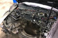 демонтаж двигателя ауди