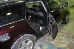 ремонт и покраска двери ауди