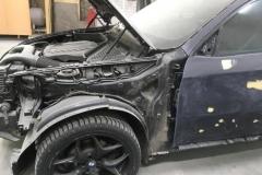 Покраска переднего крыла BMW X6
