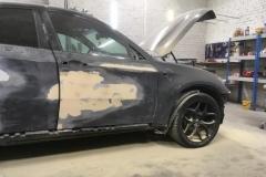 Покраска передней двери BMW X6