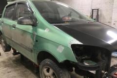 подготовительные работы перед покраской Hyundai Getz