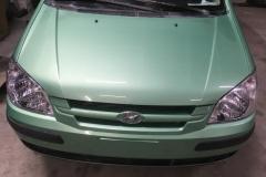 полировка капота Hyundai Getz