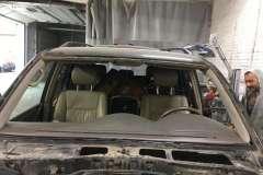 land cruiser зачистка кузова перед заменой лобового стекла