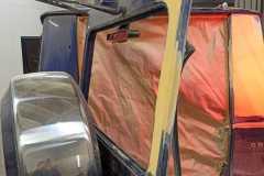 восстановление двери багажника и крыла на mercedes gelenvagen